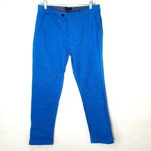 Ted Baker Men's Blue Printed Slim Pants Size 32R
